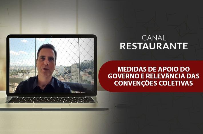 TV SinHoRes/Canal Restaurante: Presidente Edson Pinto fala sobre medidas de Apoio do Governo e relevância das Convenções Coletivas