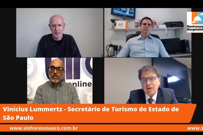 Confira a entrevista com o Secretário de Turismo do Estado de São Paulo, Vinicius Lummertz