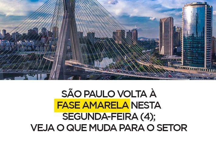 São Paulo volta à fase amarela nesta segunda-feira (4); veja o que muda para o setor