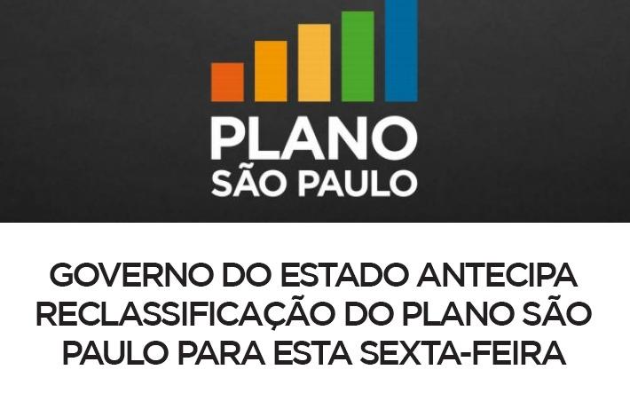 Governo do Estado Antecipa Reclassificação do Plano São Paulo para esta Sexta-Feira