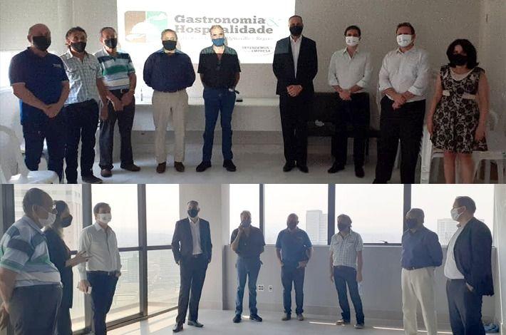 Presidente e diretoria executiva do SinHoRes fazem visita técnica nas obras da nova sede do sindicato