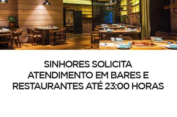 SinHoRes solicita atendimento em bares e restaurantes até 23 horas
