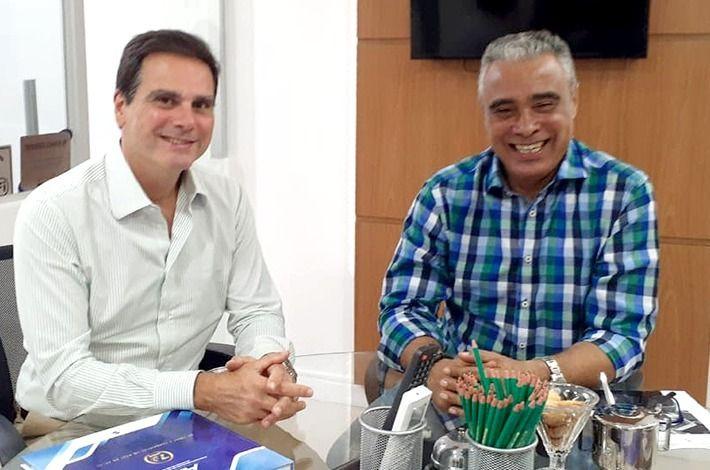 Presidente Edson Pinto se reúne com vereador Tinha Di Ferreira