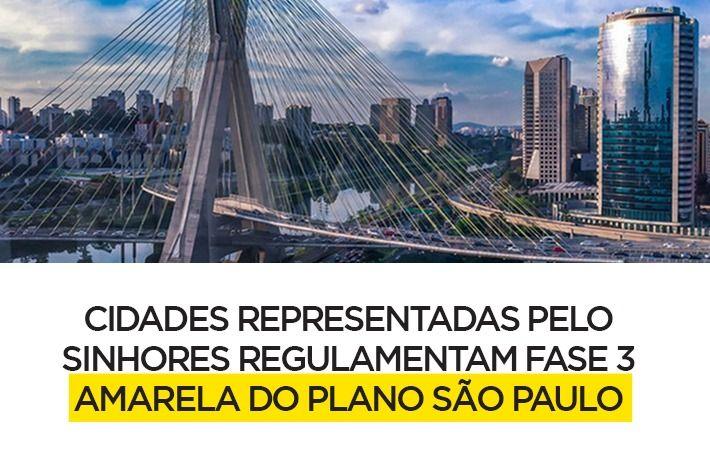 Cidades Representadas pelo SinHoRes Regulamentam Fase 3 – Amarela do Plano São Paulo