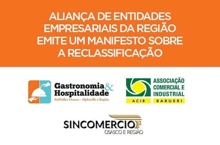 Aliança de Entidades Empresariais da região emite um Manifesto sobre a reclassificação do Plano São Paulo