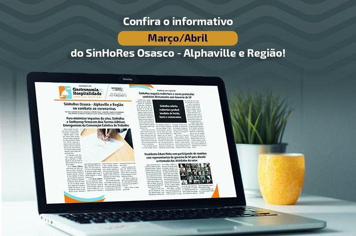 Confira o informativo do SinHoRes Osasco – Alphaville e Região de março/abril 2020