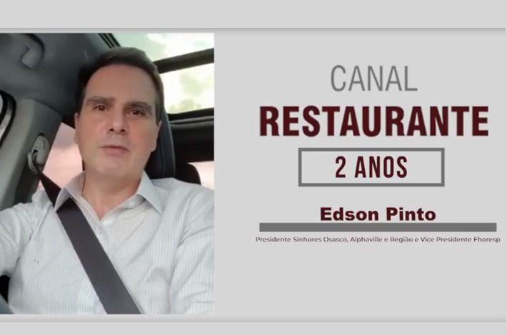 Presidente Edson Pinto parabeniza Canal Restaurante por aniversário de dois anos