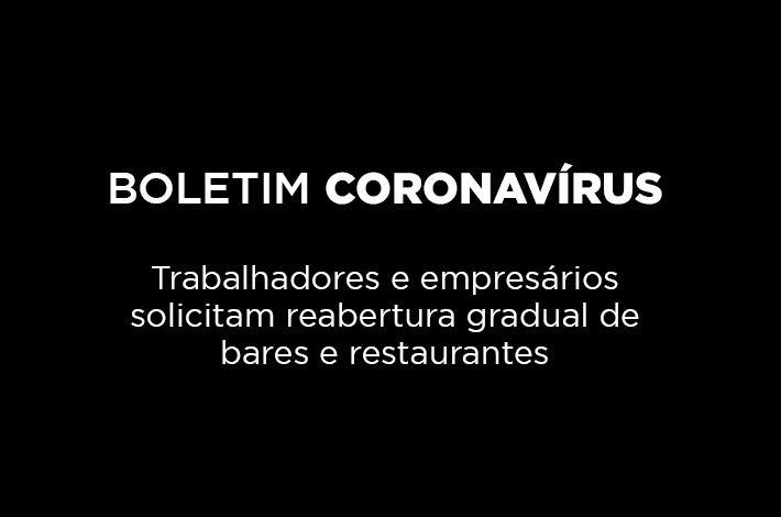 Trabalhadores e empresários de bares e restaurantes solicitam reabertura gradual ao Governador João Dória