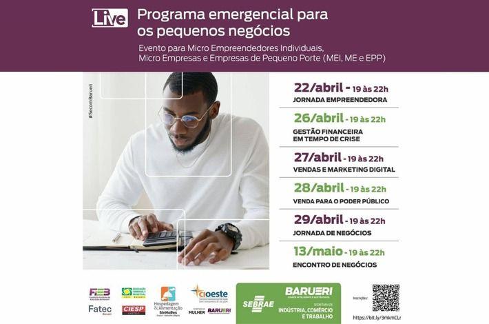 Em parceria com prefeitura de Barueri e SEBRAE, SinHoRes apoia Programa Emergencial para Pequenos Negócios. Participe!